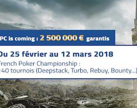 Cagnotte de 2.500.000€ à partager sur PMU lors des France Poker Championship IX