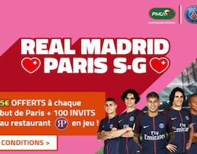 Un repas au restau et jusqu'à 15€ de bonus à gagner sur le match Real/Paris en LDC avec PMU