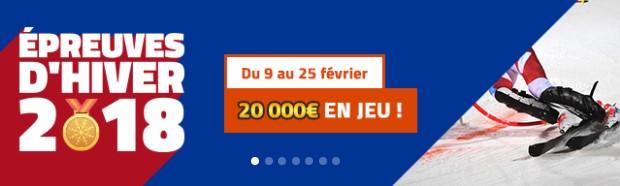 20.000€ mis en jeu sur PMU pour les Jeux Olympiques d'hiver