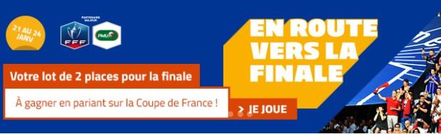 5.000€ et des places pour la finale de la Coupe de France à gagner sur PMU