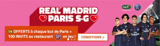 Real Madrid/PSG en ligue des Champions sur PMU le 14 février 2018