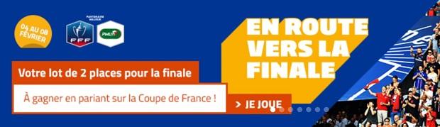 Offre En route vers la finale à l'occasion des 1/8èmes de finale de la CdF 2018 sur PMU