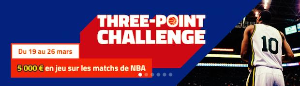 Dotation de 5.000€ à partager en pariant sur la NBA entre le 19 et le 26 mars 2018 sur PMU