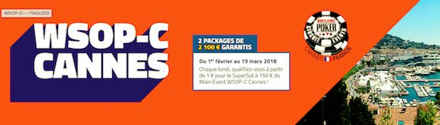 Empochez l'un des 16 packages pour le WSOP de Cannes 2018 sur PMU