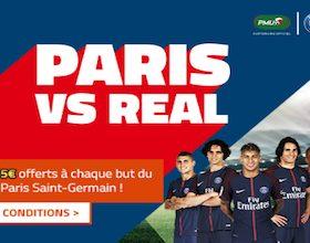 Jusqu'à 15€ à gagner sur Paris/Real avec PMU en Champions LEague