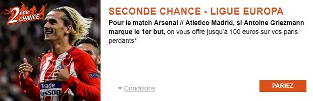 Misez sur la 1/2 finale aller de Ligue Europa Arsenal/Atletico Madrid