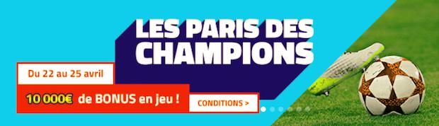 Demi-finales aller de la LDC sur PMU.fr avec 10.000€ à partager du 22 au 25/04