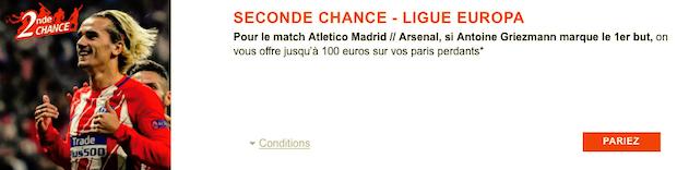 Atletico/Arsenal sur PMU le 4 mai