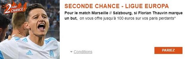 100€ offerts par PMU.fr pour Marseille-Salzbourg