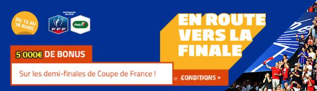 Challenge En route vers la finale sur PMU pour les 1/2 finales de la CdF 2018