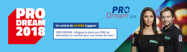 Un pack à 50.000€ offert au vainqueur de l'édition 2018 du Pro Dream sur PMU