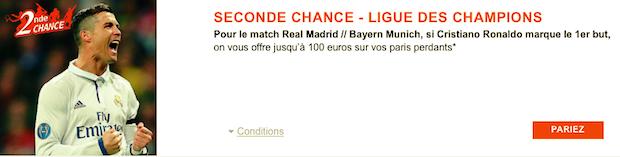 Jusqu'à 100€ de cashback sur Real/Bayern en Ligue des Champions avec PMU