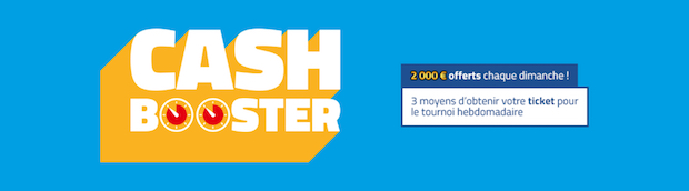 Dotation de 2.000€ à partager à chaque tournoi Cash Booster sur PMU.fr