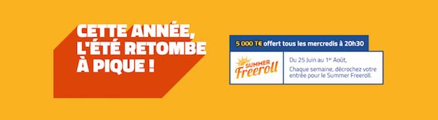 Summer Freeroll 2018 sur PMU Poker du 25/06 au 29/07