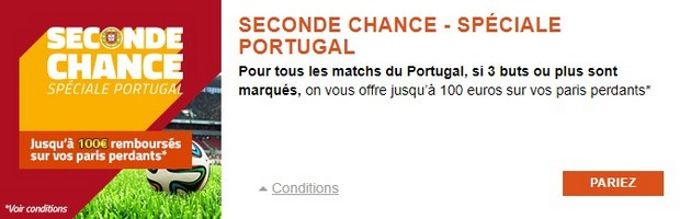 Seconde chance Portugal PMU
