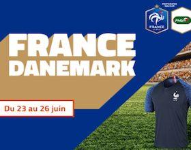 20 maillot de l'équipe de France de foot mis en jeu sur PMU du 23 au 26/06
