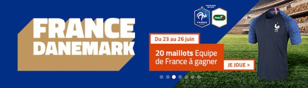 Pariez sur la rencontre Danemark/France du 26 juin avec PMU