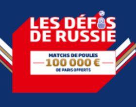 Jackpot de 100.000€ mis en jeu du 14 au 28/06 sur PMU lors des phases de groupe de la Coupe du Monde