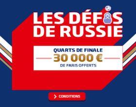Défis de Russie PMU spécial 1/4 de finale du Mondial 2018