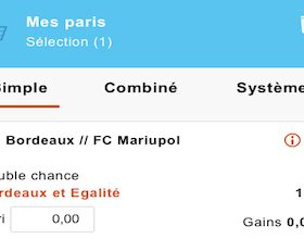 Pari Double Chance de PMU