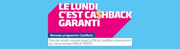 Jusqu'à 25% de vos points PMU Poker remboursés en cash