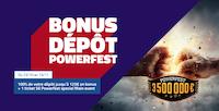 Votre 1er dépôt doublé sur PMU Poker