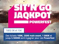 Découvrez les 2 formats de SNG Jaqkpot spécial Powerfest sur PMU