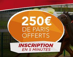 Bonus ZEturf de 250€ offert à l'ouverture de votre compte