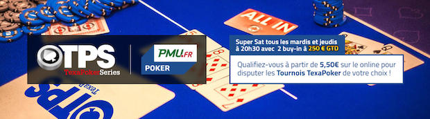 Events live TPS sur PMU Poker