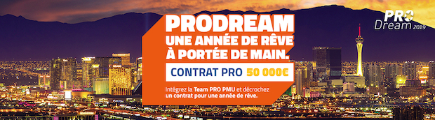 Pro Dream 2019 avec PMU Poker du 11/03 au 14/04