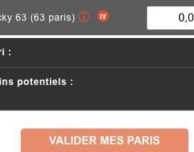 Paris système de type Lucky sur PMU