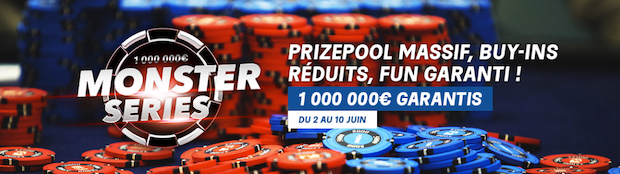Monster Series de Poker avec PMU