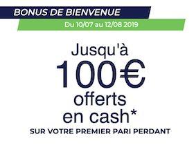 Jusqu'à 100€ en cash à gagner avec ParionsSport