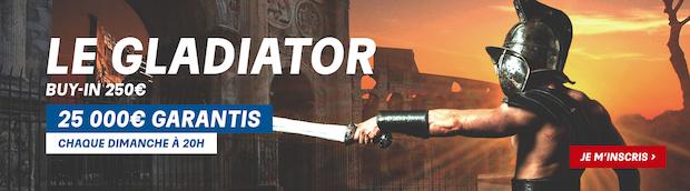 Le Gladiator sur PMU Poker le dimanche à 20€
