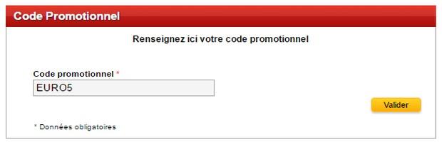 5 euros offerts avec le code France Pari