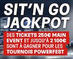 Sit'N Go Jaqkpot Powerfest sur PMU Poker