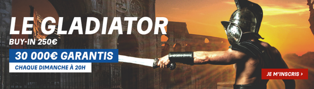 Le Gladiator sur PMU Poker le dimanche à 20h