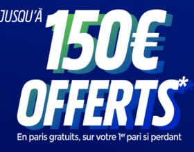 Jusqu'à 150€ à gagner avec ParionsSport
