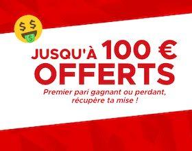 Jusqu'à 100€ offerts avec Betclic