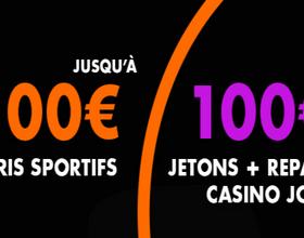 200€ avec le code bonus JOABet